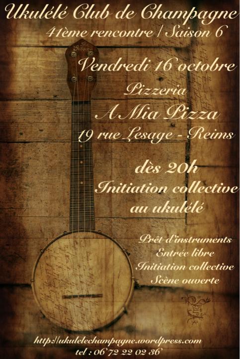 Affiche Ukulélé octobre 2015
